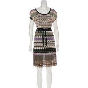 Missoni printed tie front mini dress Size 8
